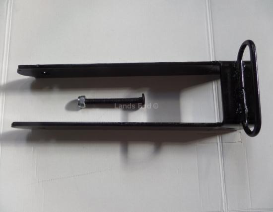 Doppeltor Überwurf schwarz pulverbeschichtet